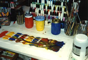 Primary colors selected for the original painting