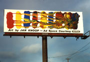 Finished billboard installed at its first location